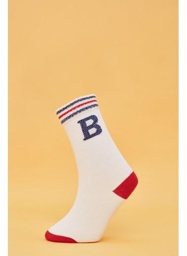 BG Baby Kız Bebek Beyaz Çorap Beyaz